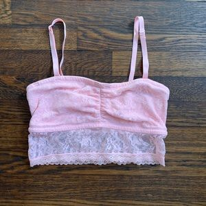 DKNY bandeau bra with lace overlay